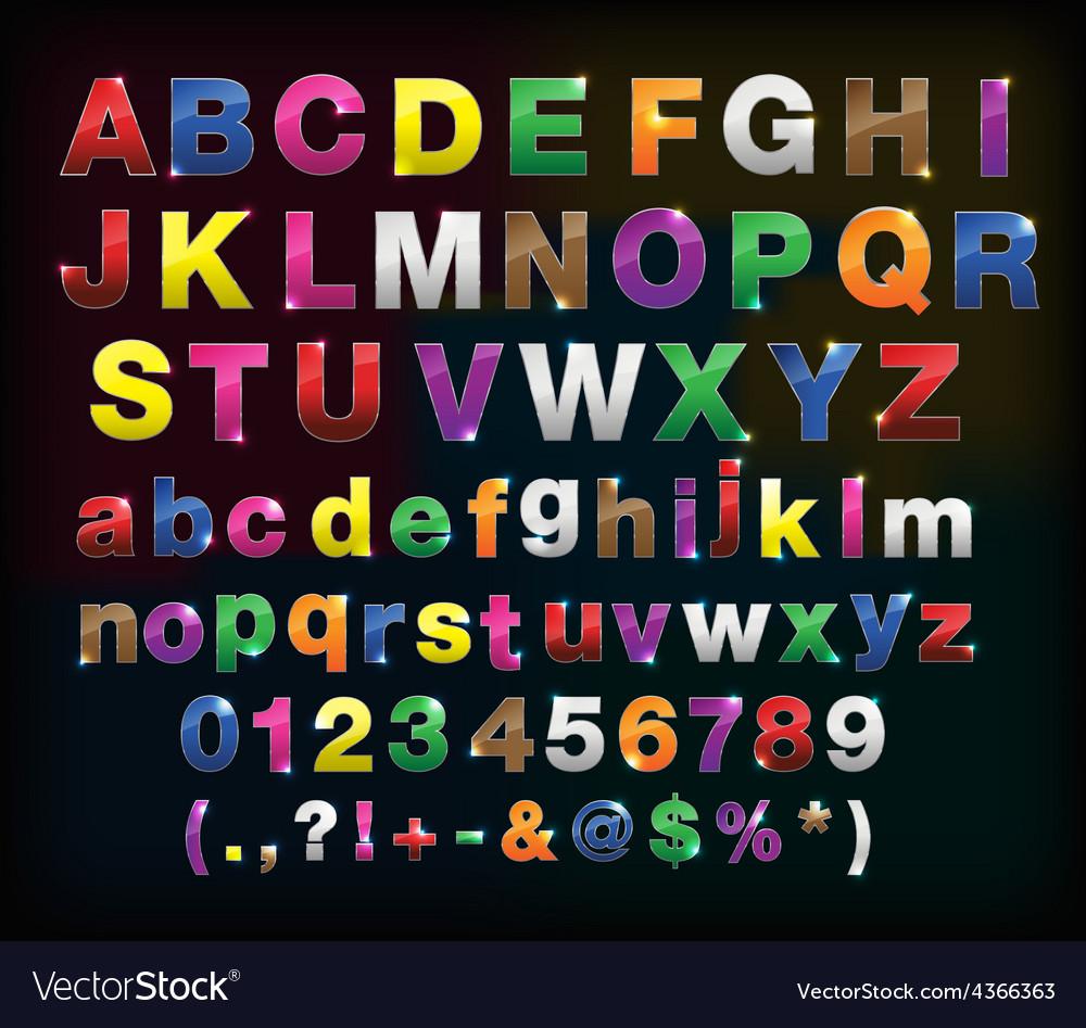 Creative alphabet metal border set for your design vector   Price: 1 Credit (USD $1)
