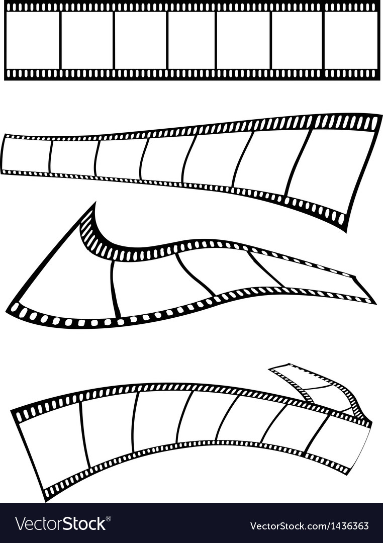 Film strips design vector | Price: 1 Credit (USD $1)