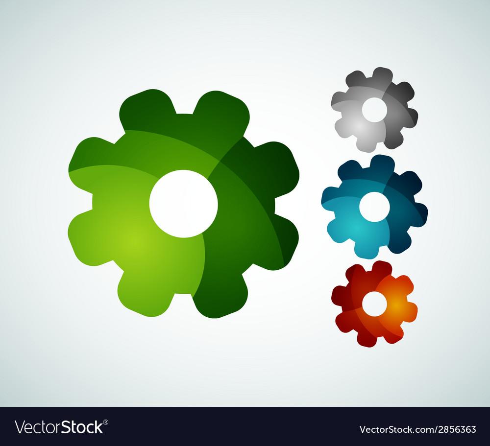 Gear logo design made of color pieces vector   Price: 1 Credit (USD $1)