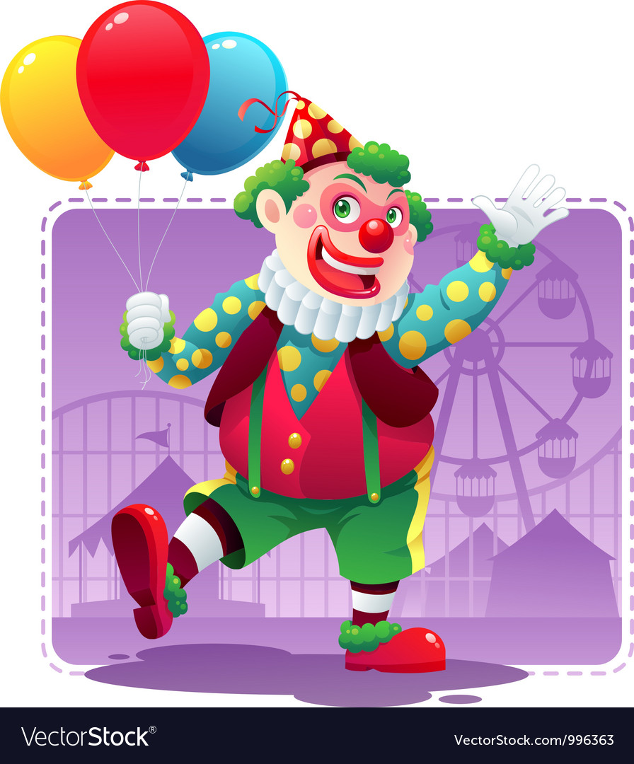 Happy clown vector | Price: 3 Credit (USD $3)