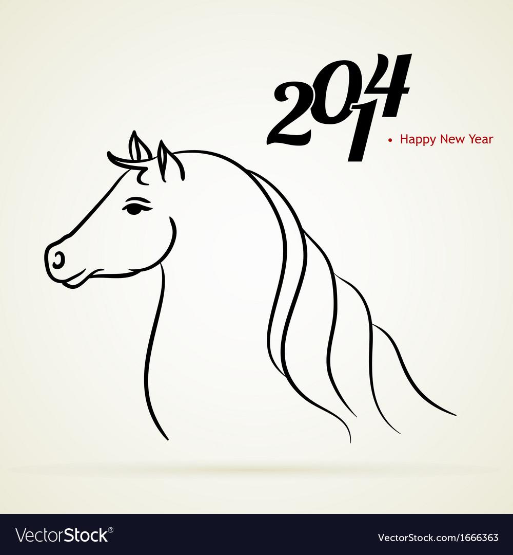 Horse 2014 vector   Price: 1 Credit (USD $1)