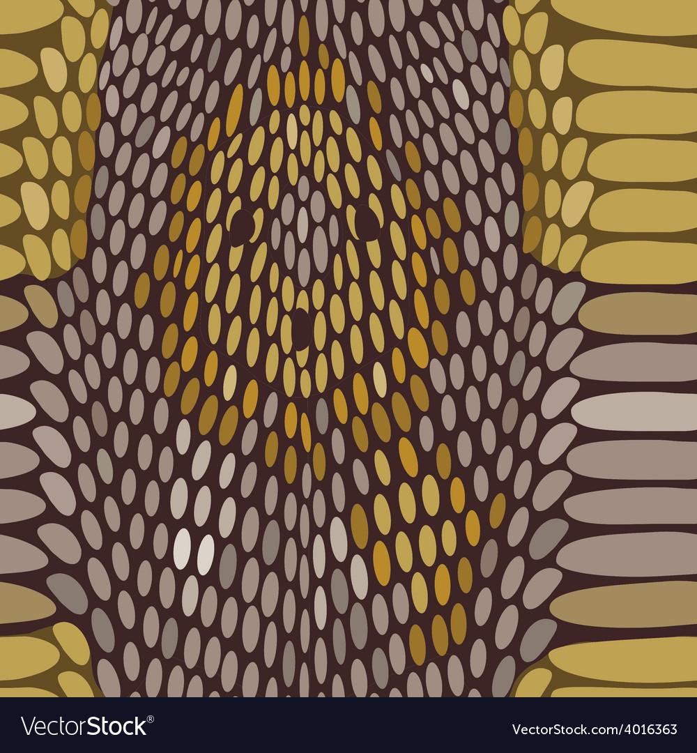 Snake python skin texture seamless pattern vector | Price: 1 Credit (USD $1)