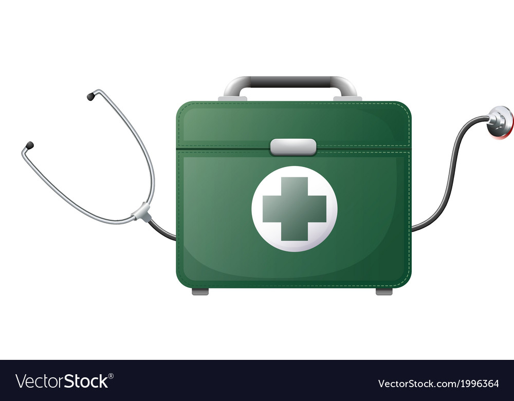 A stethoscope and a medical bag vector | Price: 1 Credit (USD $1)