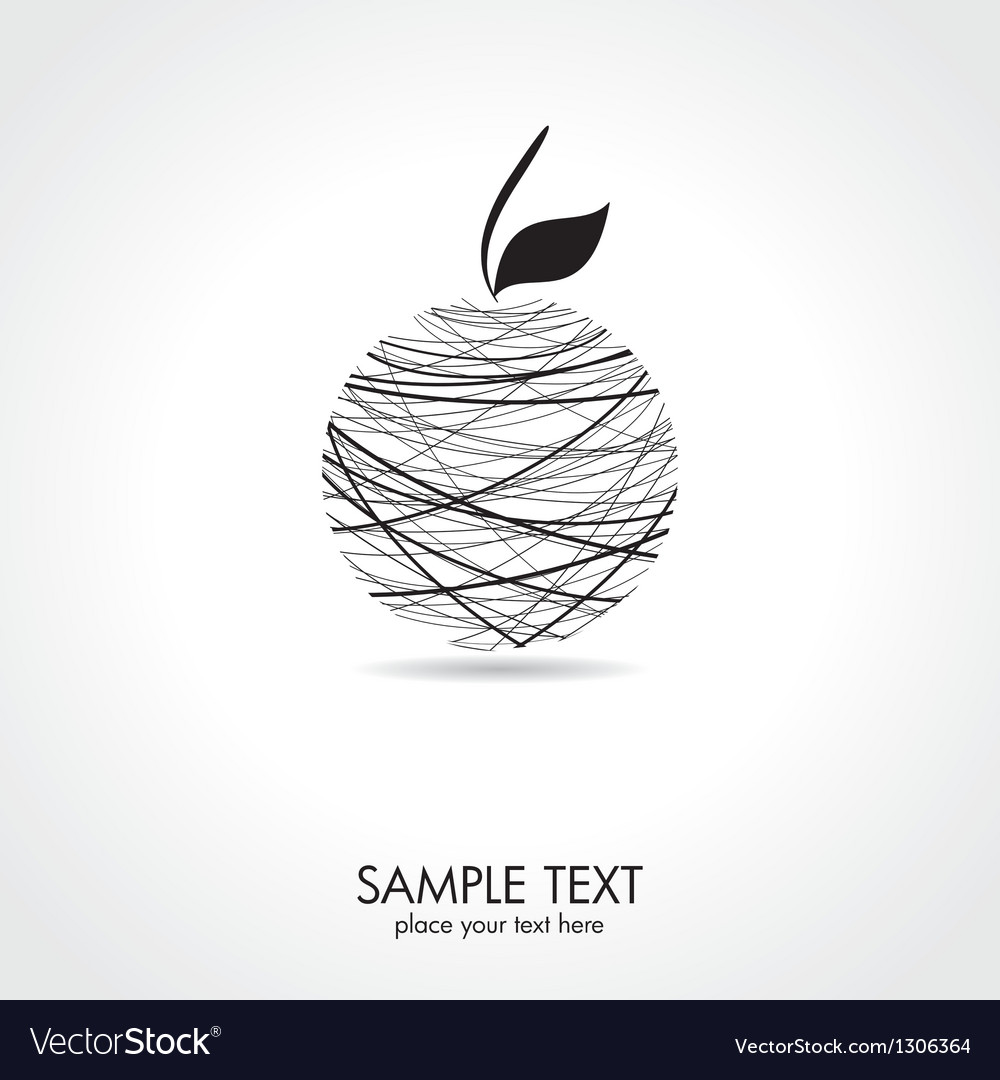 Abstract apple card vector | Price: 1 Credit (USD $1)