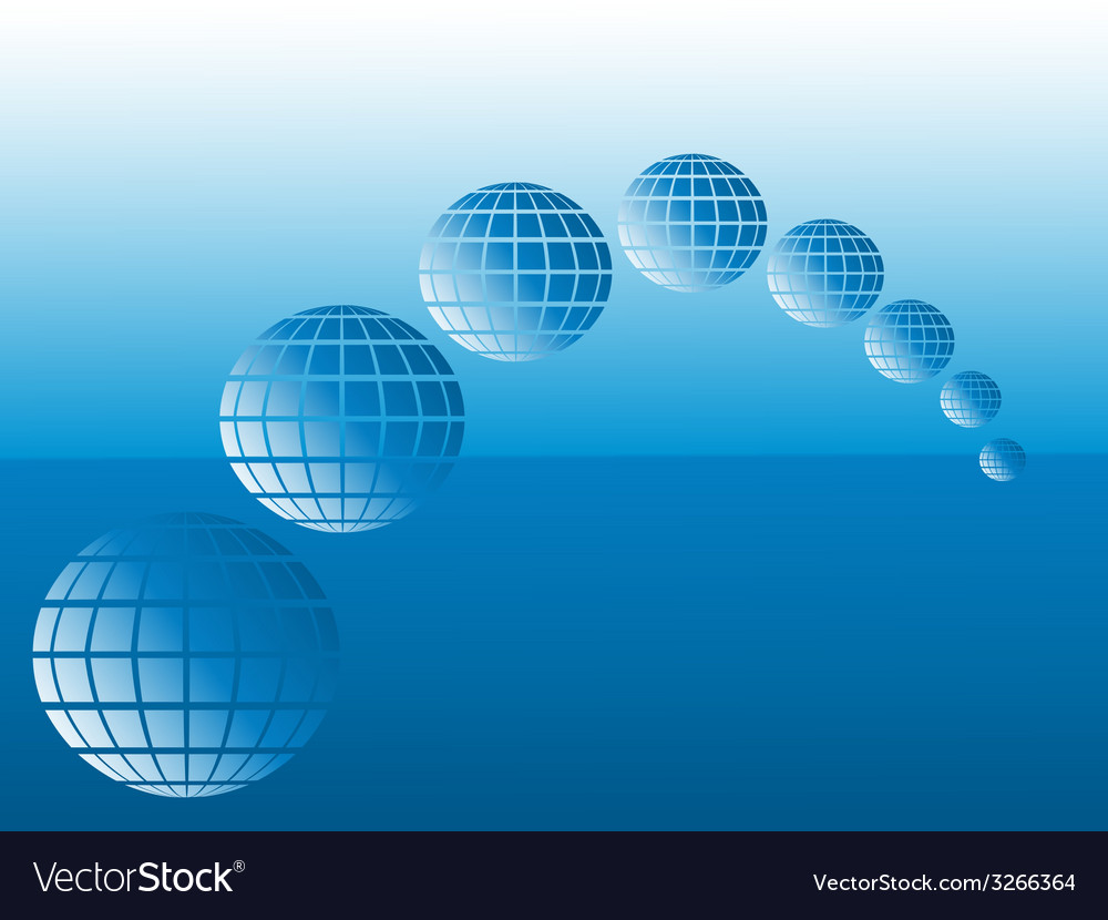 Globes and sea vector | Price: 1 Credit (USD $1)
