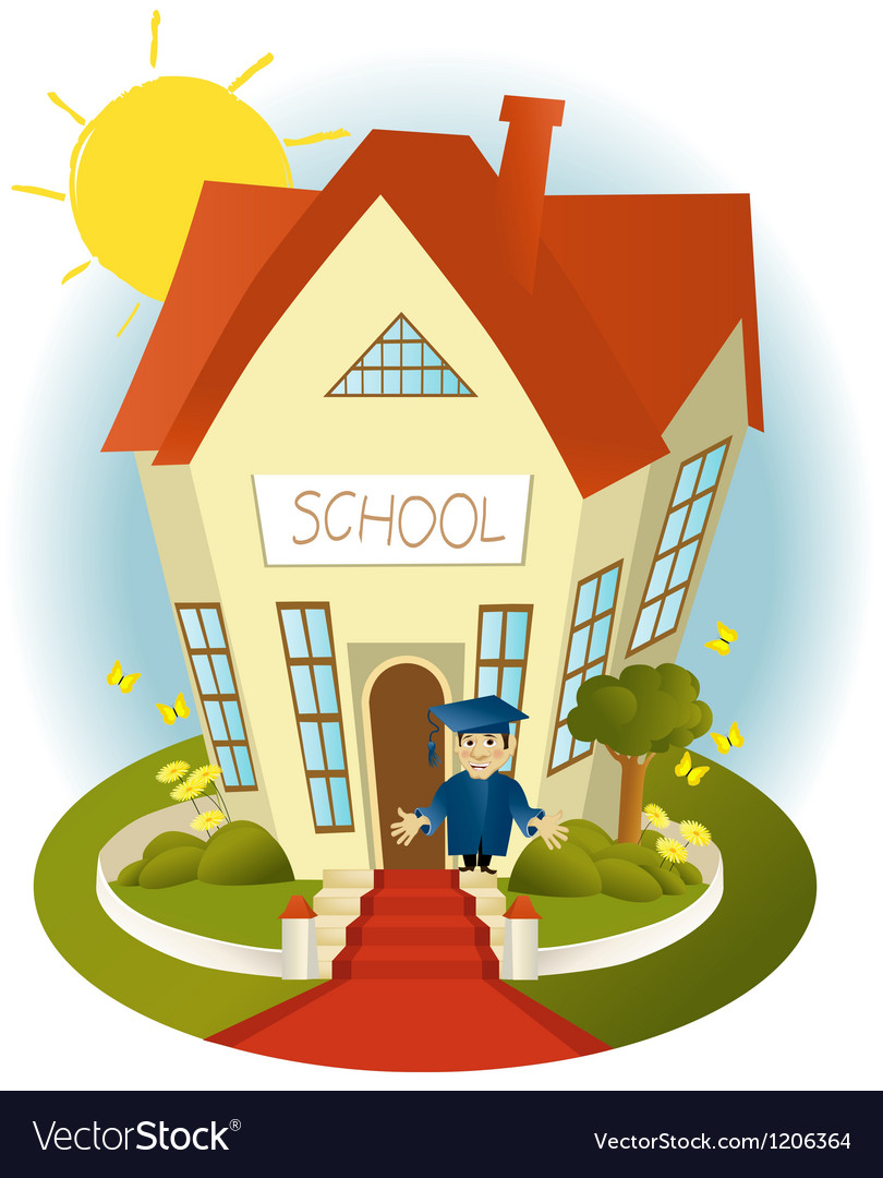 Happy school vector | Price: 1 Credit (USD $1)