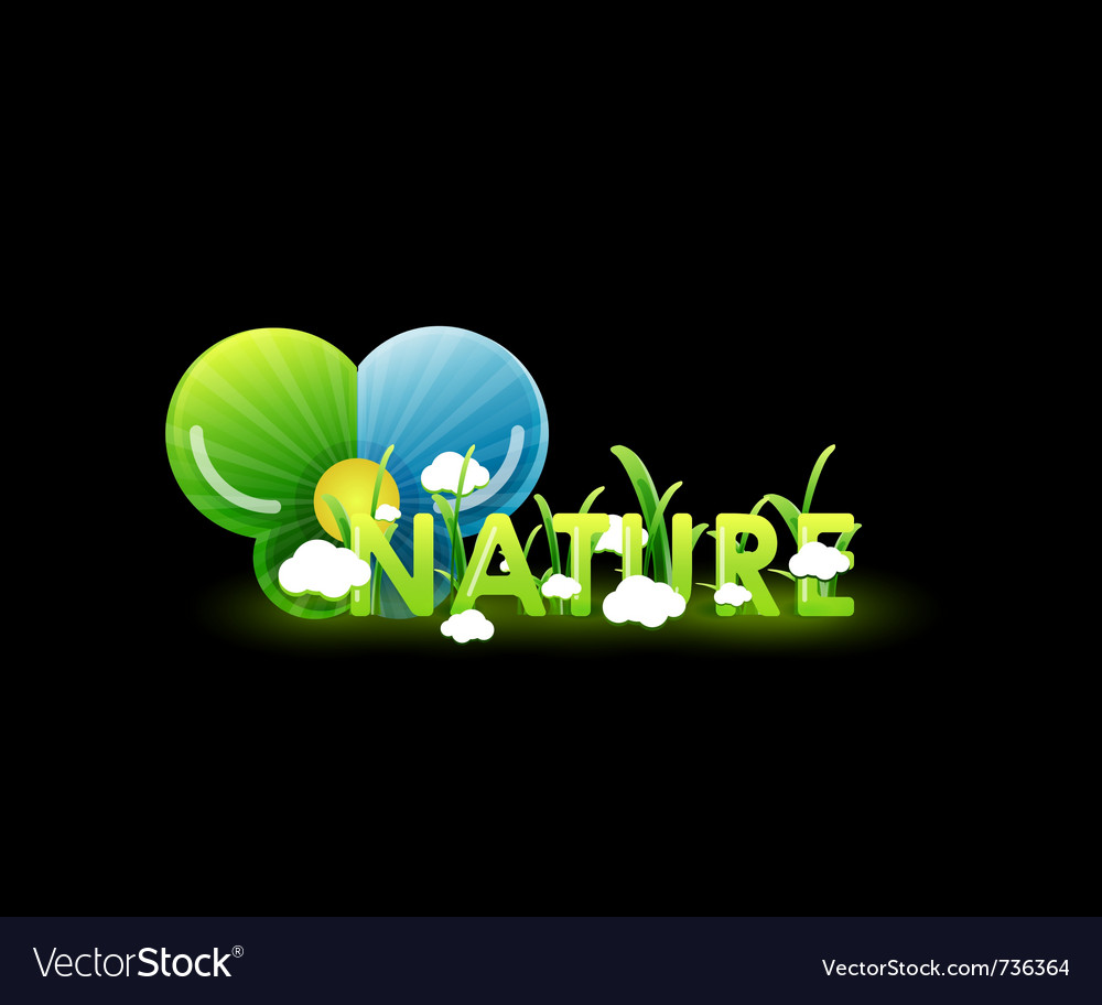 Nature concept on black vector | Price: 1 Credit (USD $1)