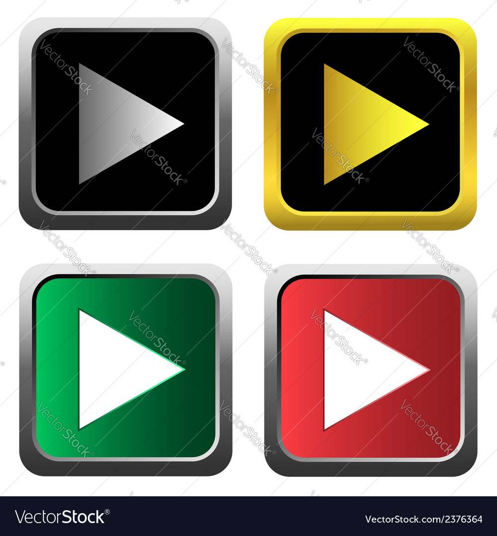Play icon set vector | Price: 1 Credit (USD $1)