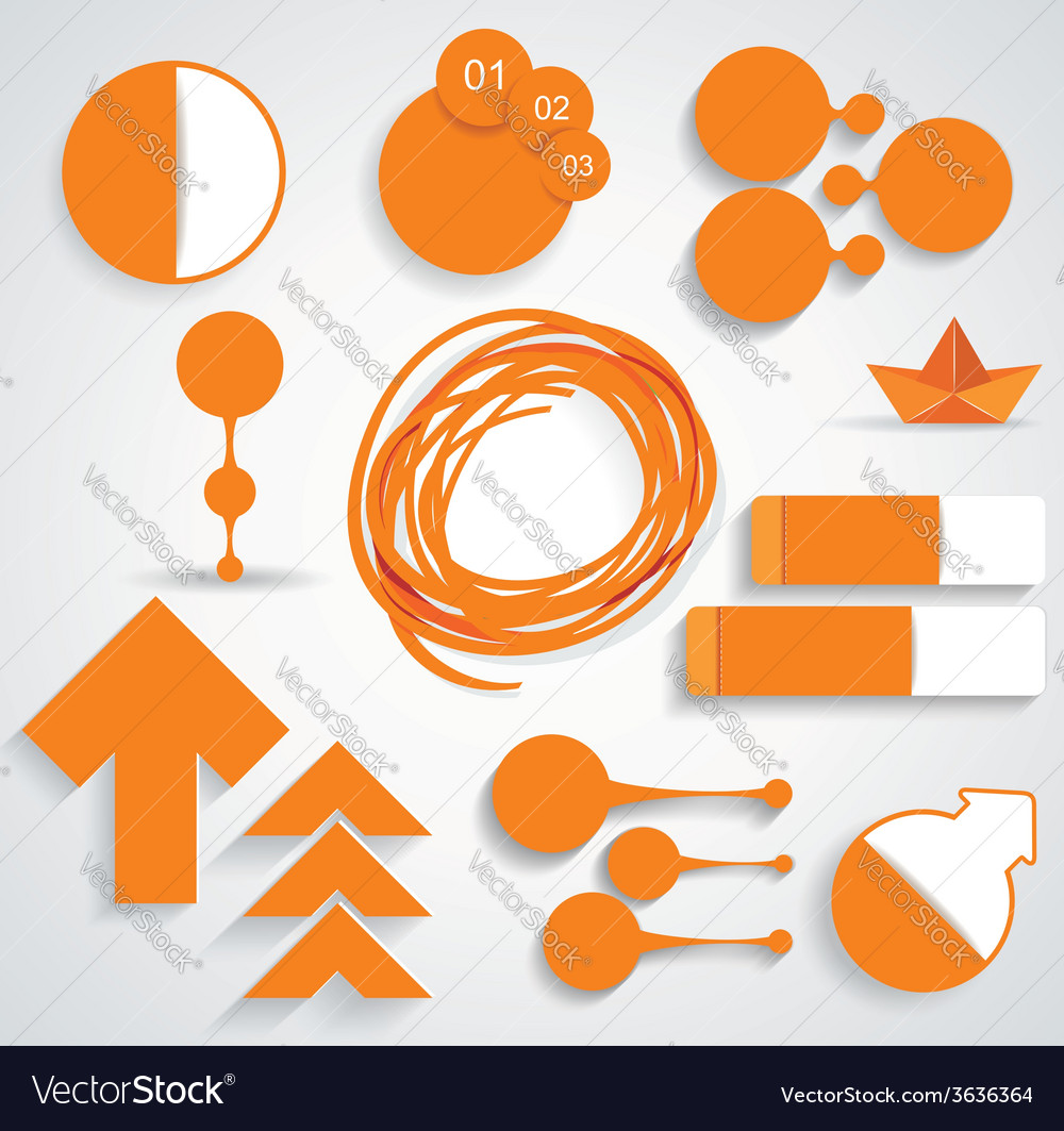 Set of business infographic elements vector | Price: 1 Credit (USD $1)