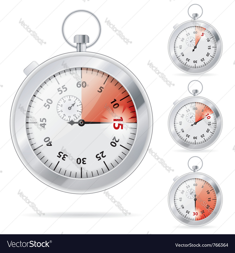 Timers set vector | Price: 1 Credit (USD $1)