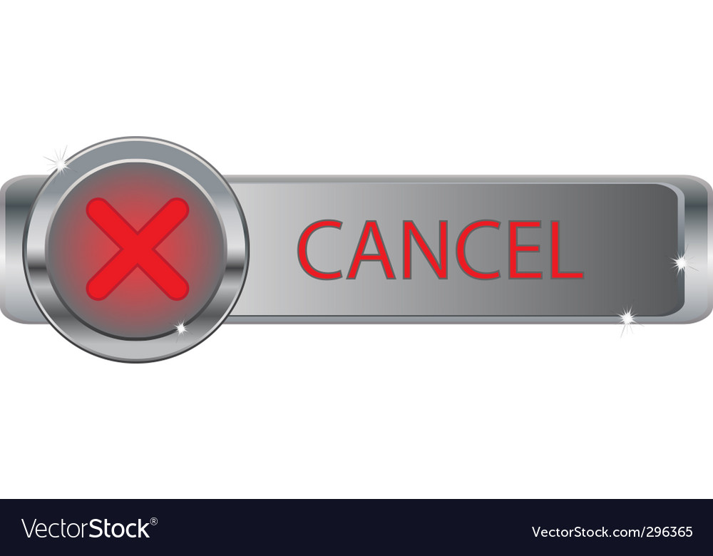 Cancel vector | Price: 1 Credit (USD $1)