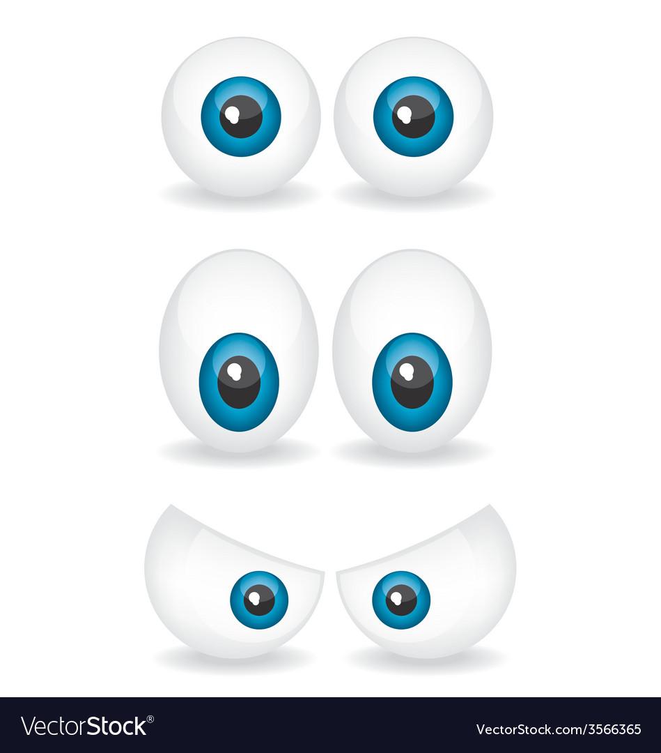 Cartoon eye vector | Price: 1 Credit (USD $1)