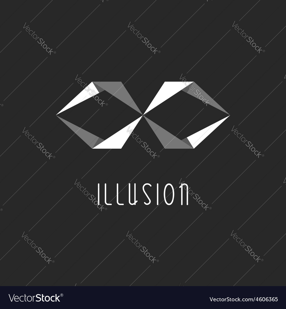 Geometric logo abstract letter x or infinity sign vector