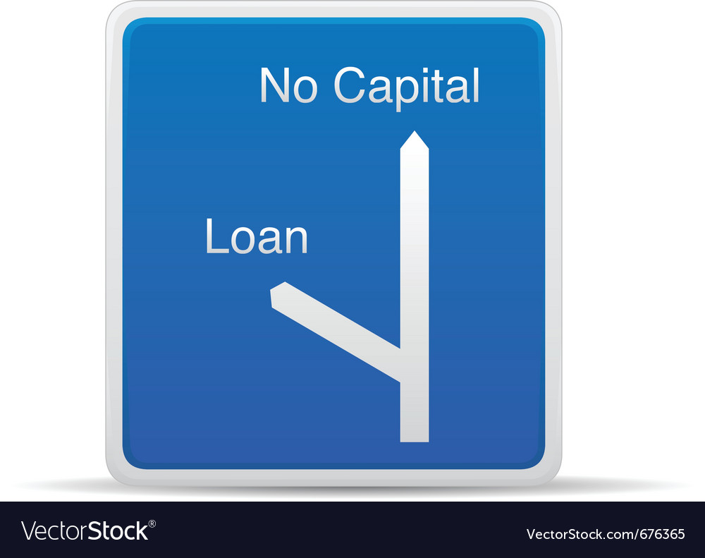 Loan road sign vector | Price: 1 Credit (USD $1)
