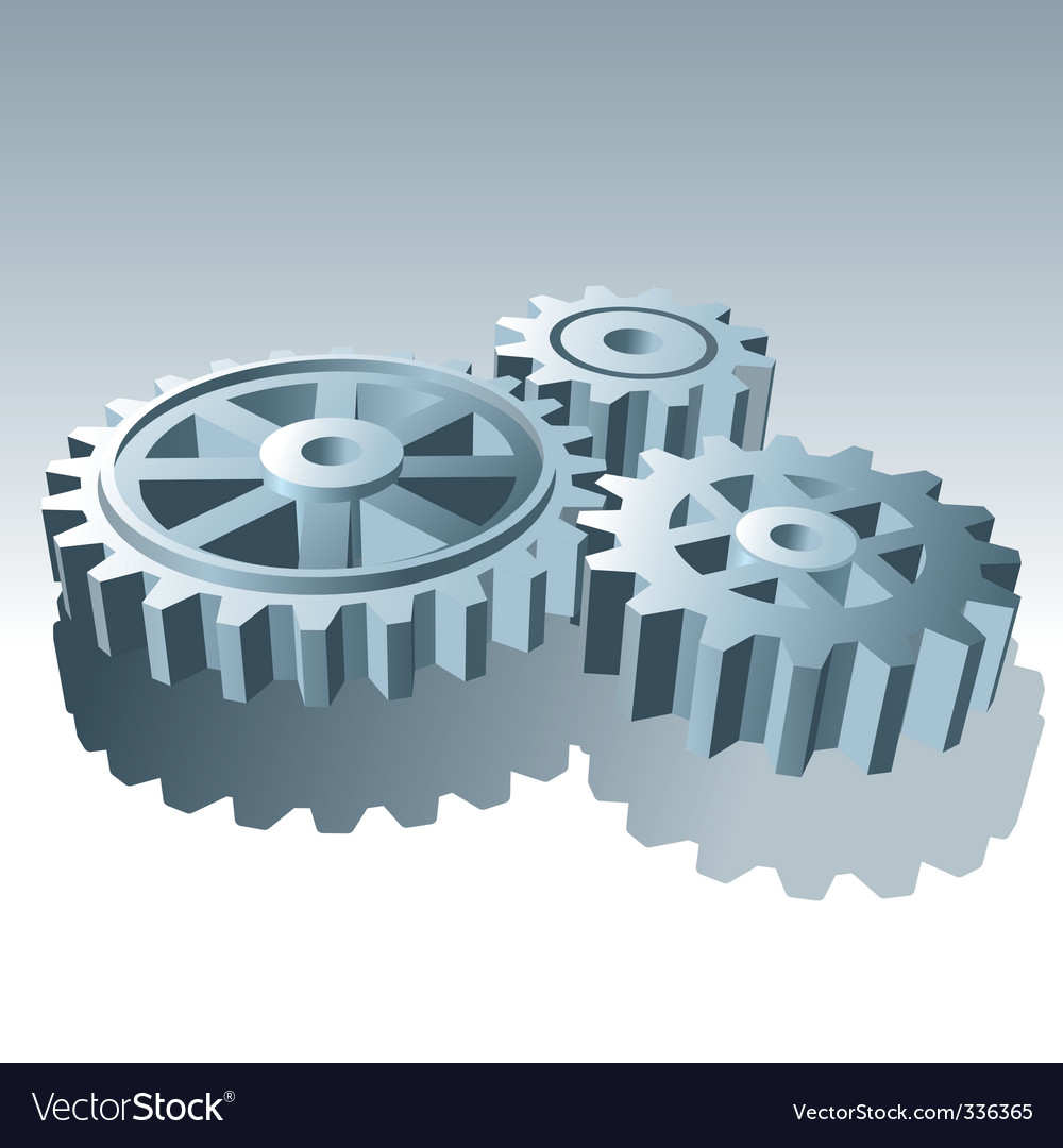 Metal operation gears vector | Price: 1 Credit (USD $1)