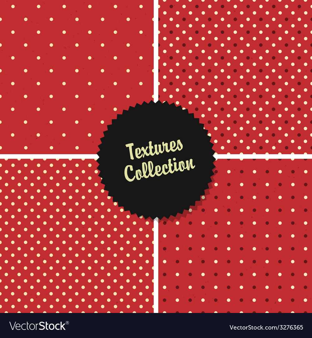 Red classical polka dot patterns collection vector | Price: 1 Credit (USD $1)