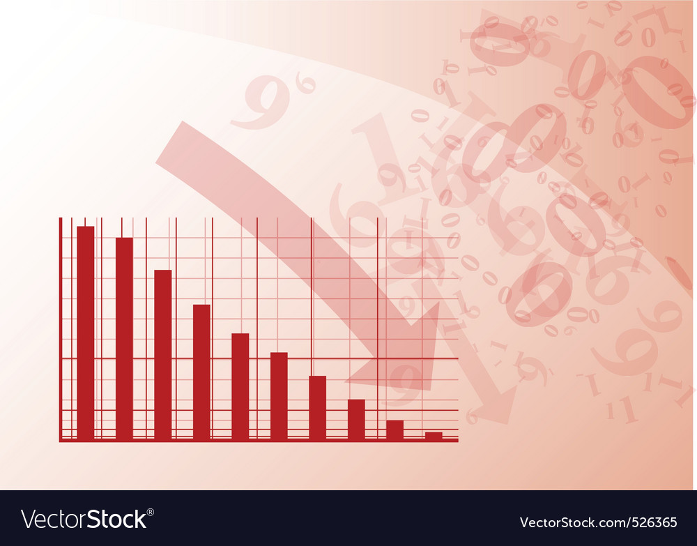Red graph vector | Price: 1 Credit (USD $1)