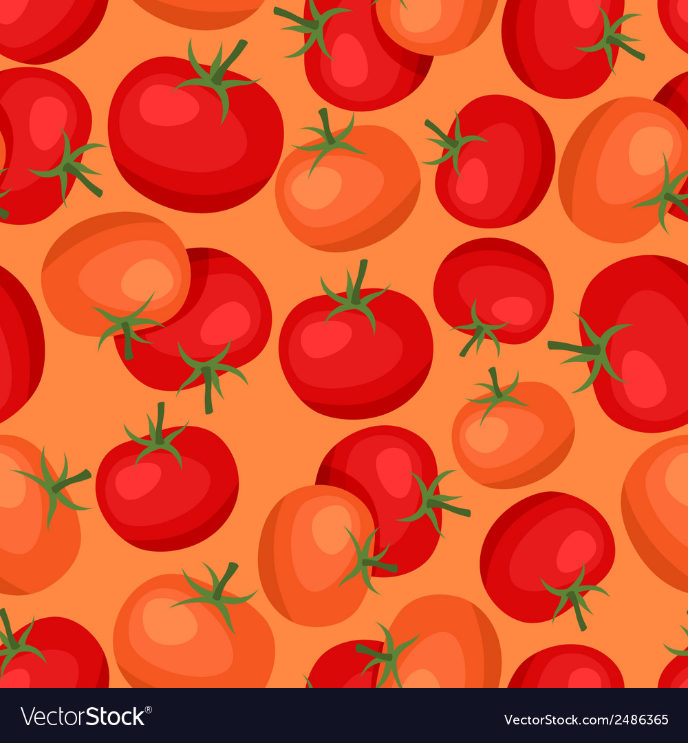 Seamless pattern with fresh ripe tomatoes vector | Price: 1 Credit (USD $1)