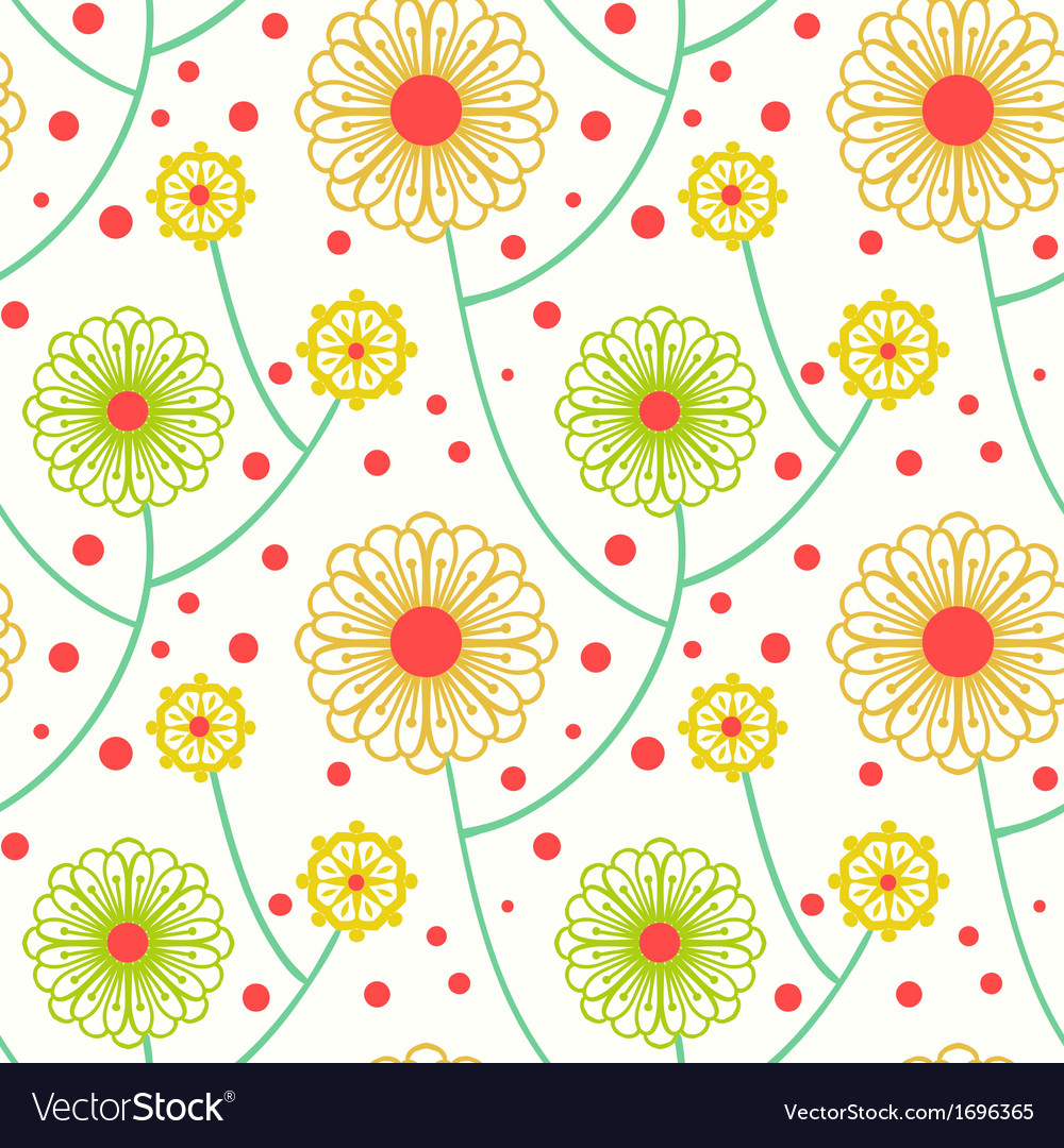 Simple floral pattern with bold flowers vector | Price: 1 Credit (USD $1)