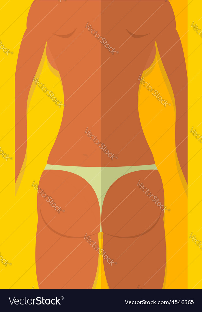 Spin tanned girls woman is lying on beach summer vector | Price: 1 Credit (USD $1)