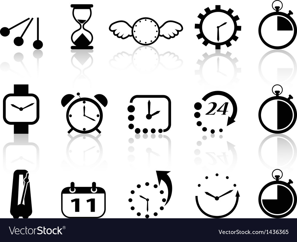 Time concept icons set vector | Price: 1 Credit (USD $1)