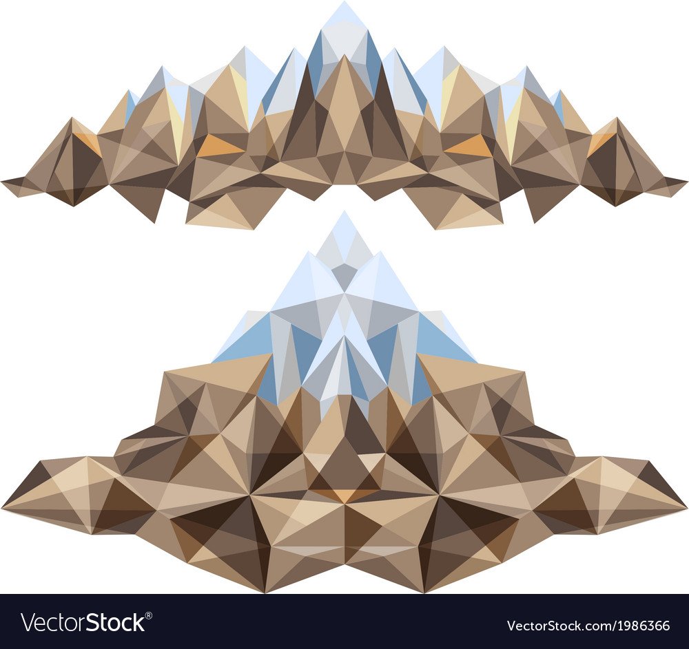 2 colored mountains vector | Price: 1 Credit (USD $1)
