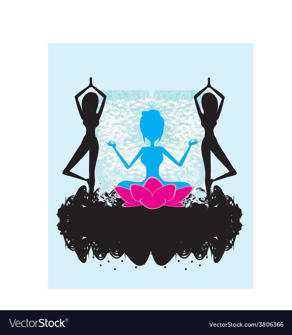 Banner yoga vector   Price: 1 Credit (USD $1)