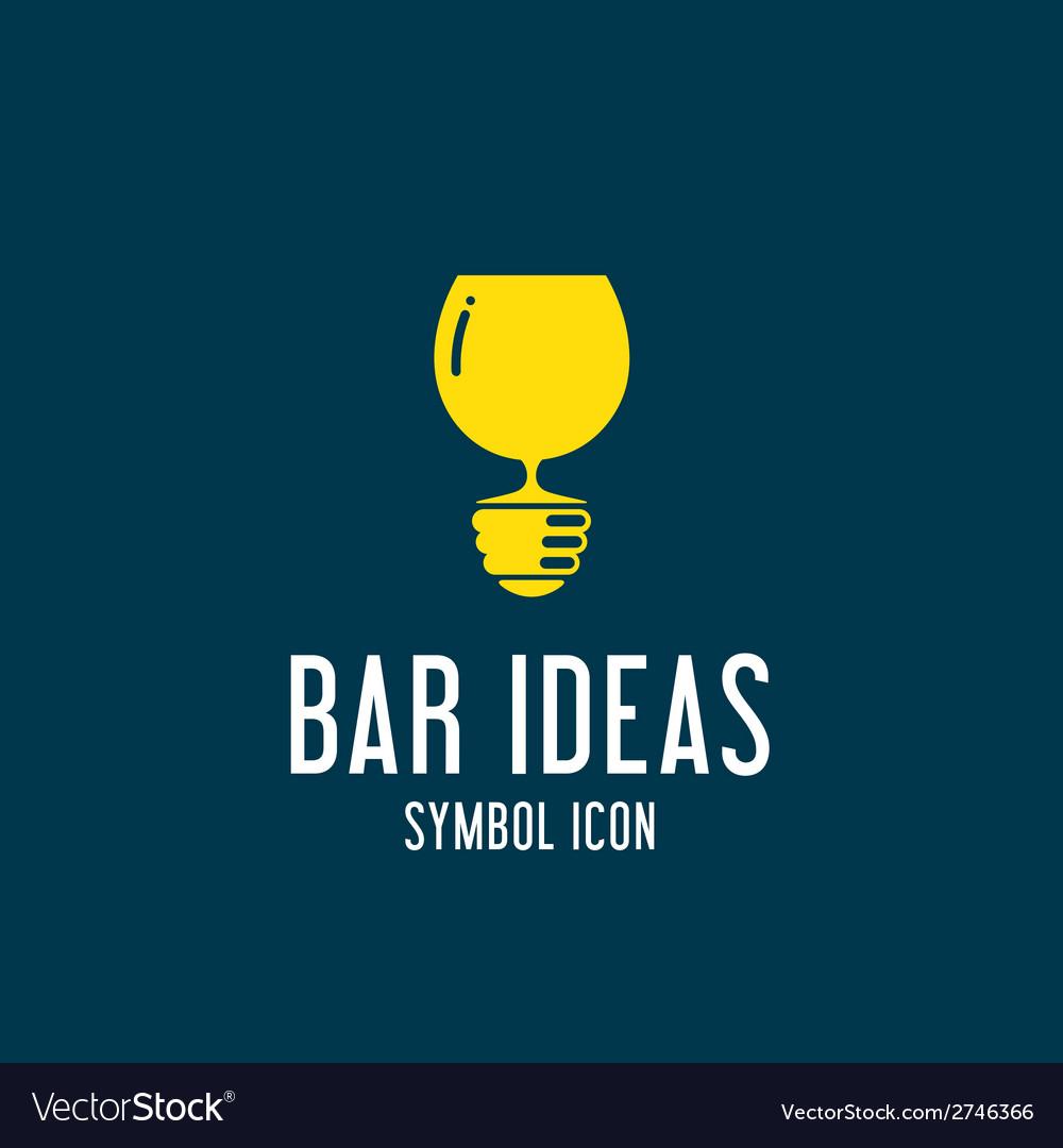 Bar ideas concept symbol icon or logo template vector | Price: 1 Credit (USD $1)