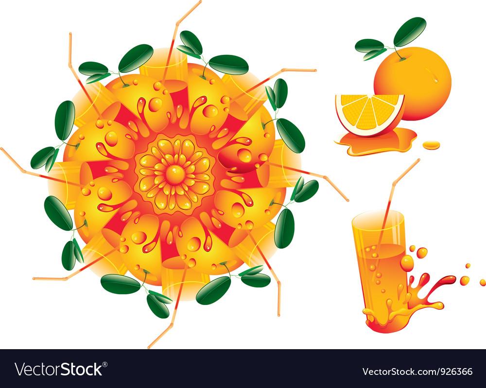 Citrus mandala vector | Price: 3 Credit (USD $3)