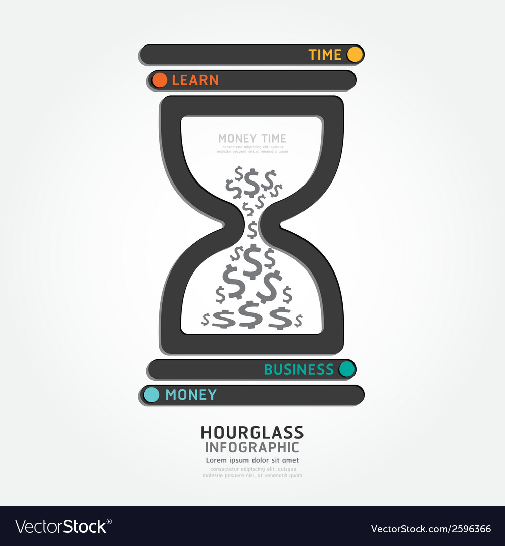 Infographics hourglass design diagram vector | Price: 1 Credit (USD $1)
