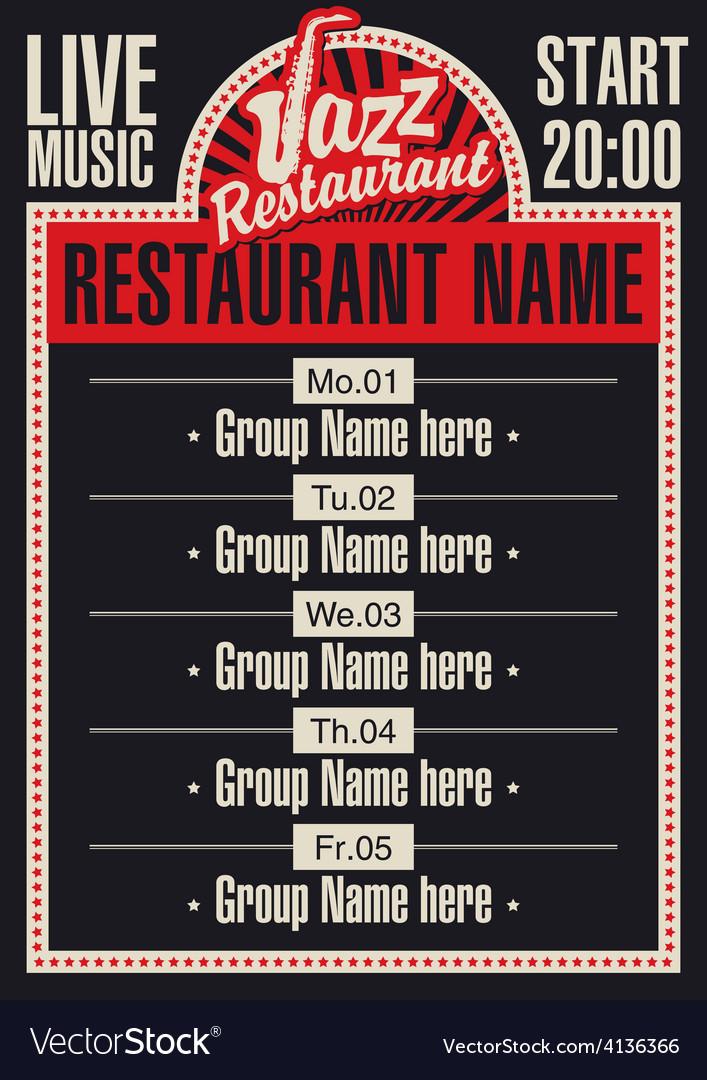 Jazz restaurant vector   Price: 1 Credit (USD $1)