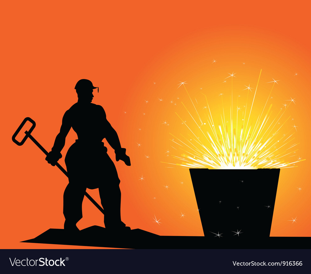 Steel maker vector | Price: 1 Credit (USD $1)