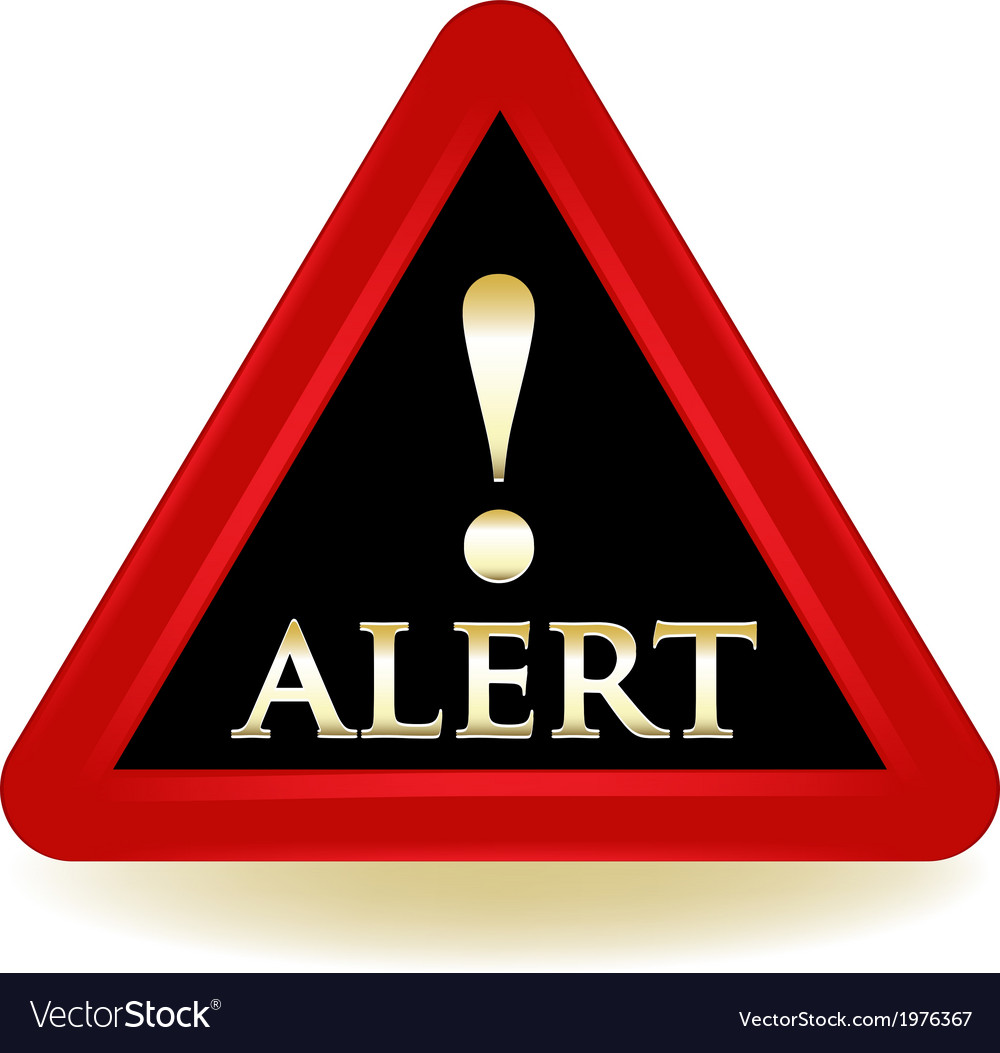 Alert warning sign vector | Price: 1 Credit (USD $1)