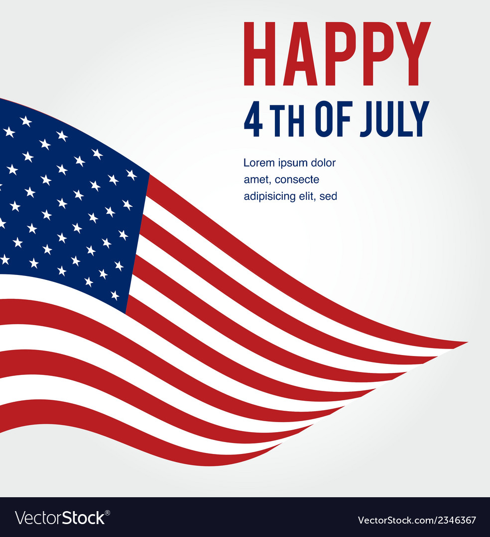 American flag background for independence day vector | Price: 1 Credit (USD $1)