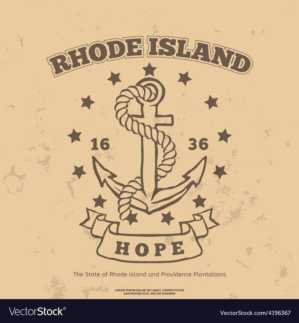 Anchor with rope and hope design elements tshirt vector