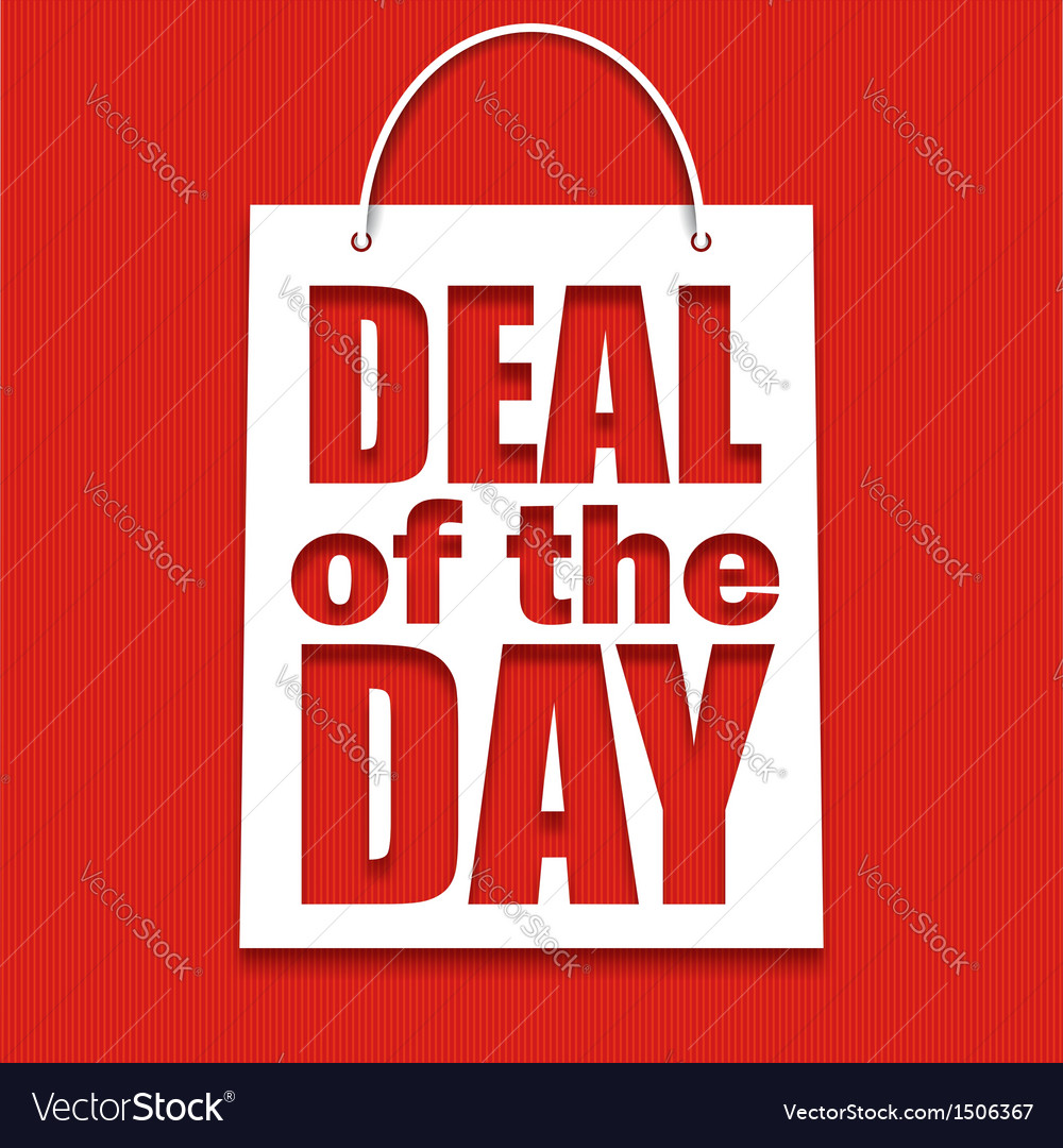Deal of the day poster with bag vector | Price: 1 Credit (USD $1)