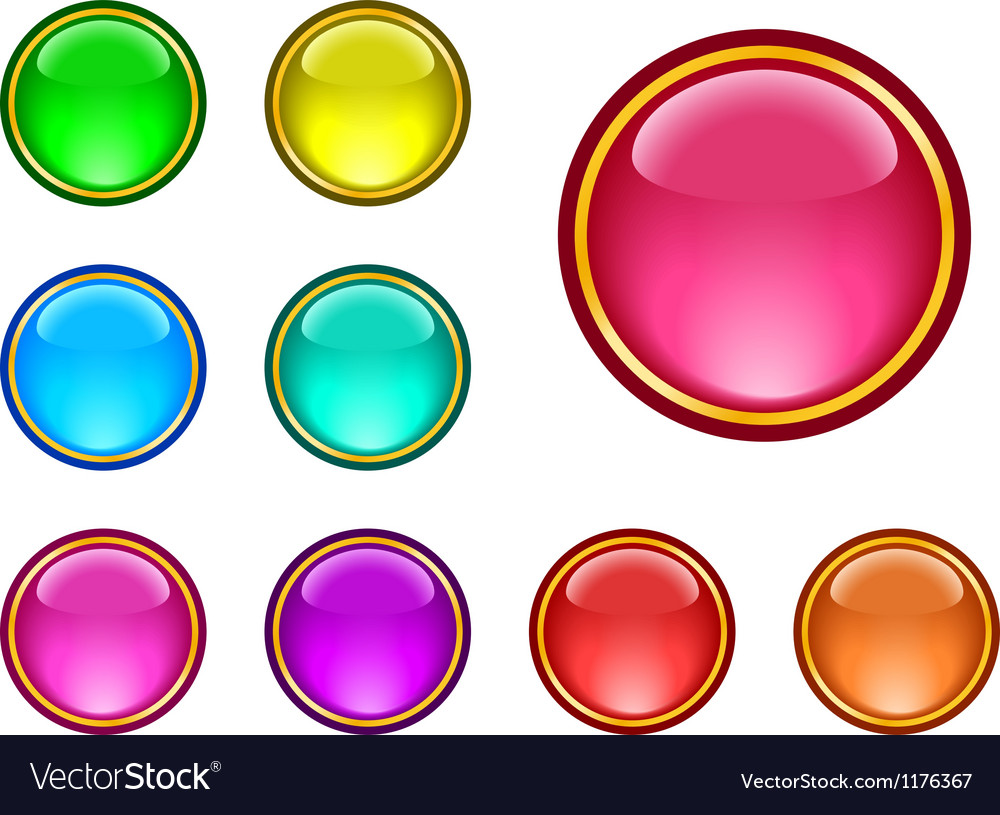 Glassy buttons vector | Price: 1 Credit (USD $1)
