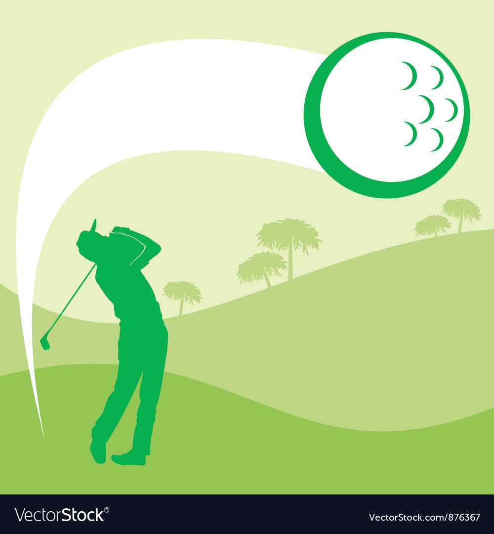 Golfer graphic vector | Price: 1 Credit (USD $1)