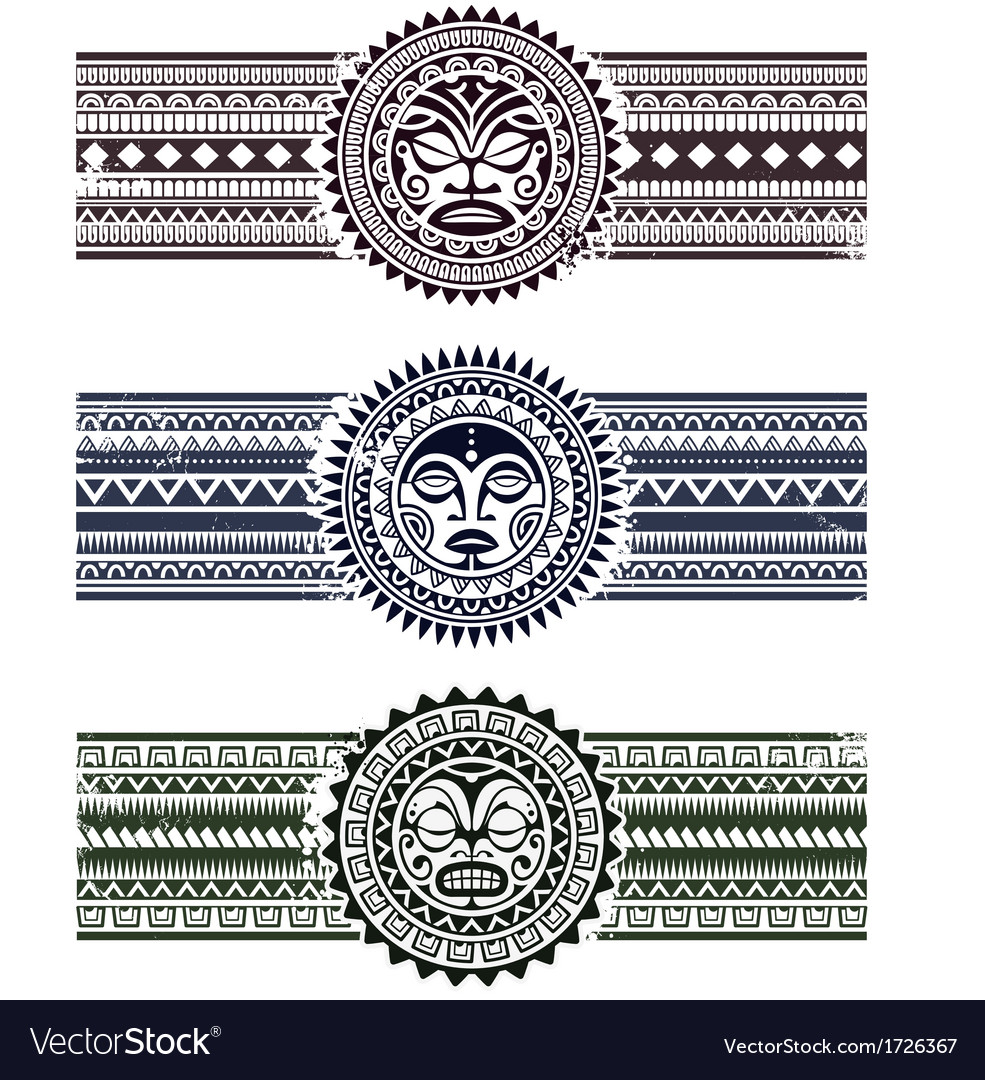 Polynesian circle patterns vector | Price: 1 Credit (USD $1)