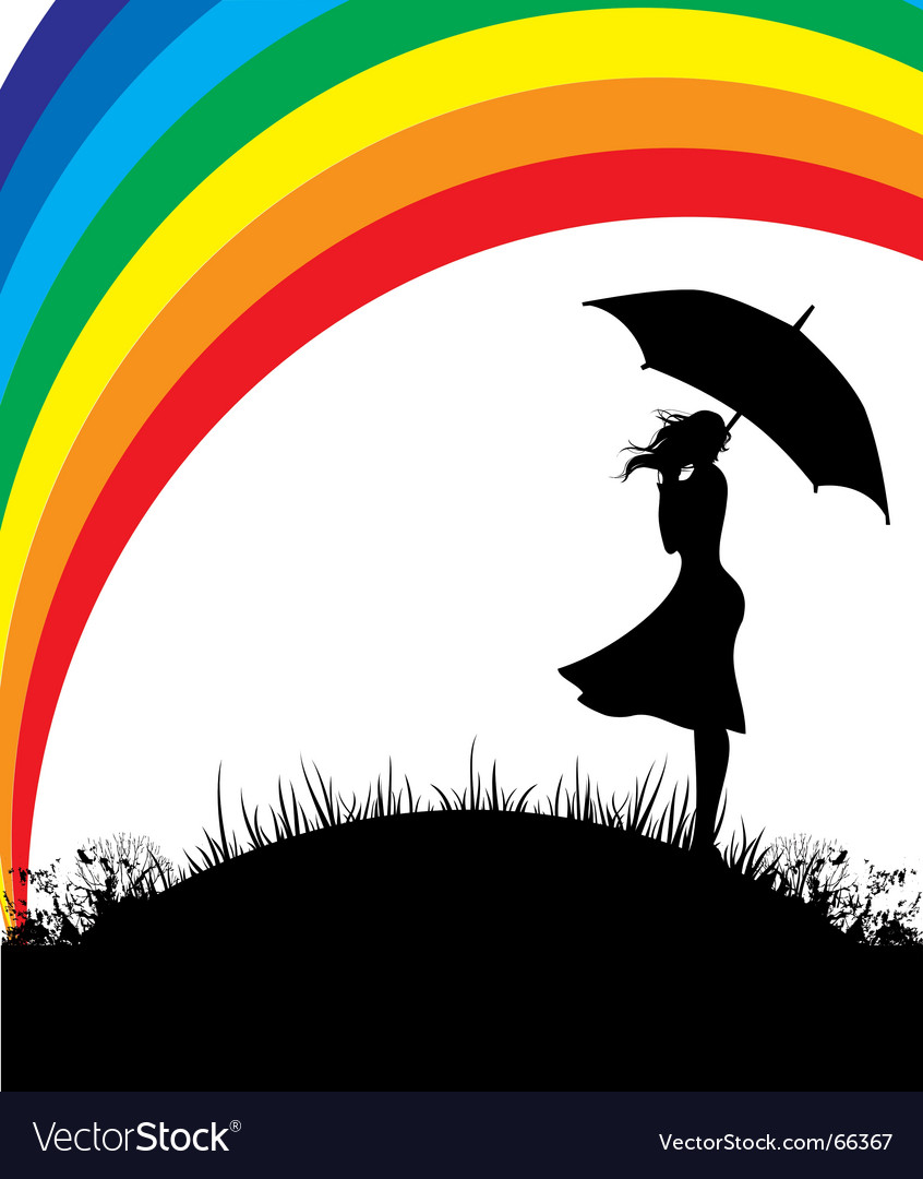 Rainbow girl vector | Price: 1 Credit (USD $1)