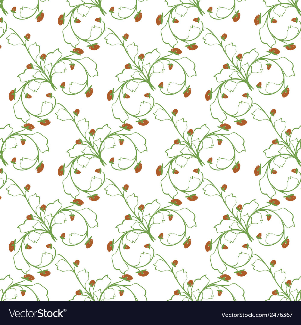 Sample pattern of white background rhythmic green vector | Price: 1 Credit (USD $1)