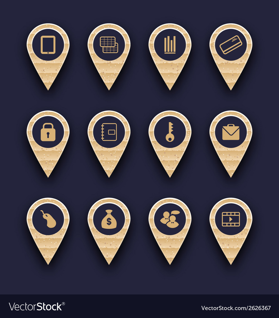 Set business infographics icons for design website vector | Price: 1 Credit (USD $1)