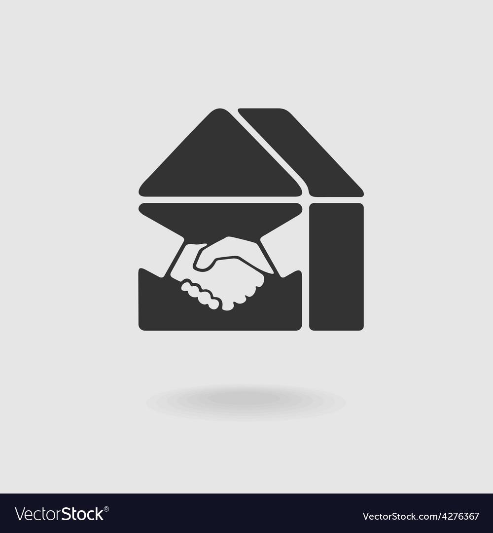 Symbol handshake and real estate vector | Price: 1 Credit (USD $1)