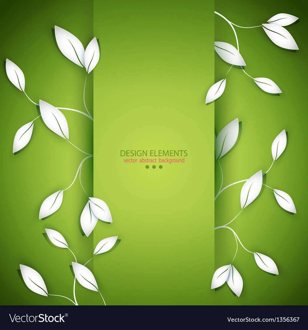 Twigs and leaves vector | Price: 1 Credit (USD $1)