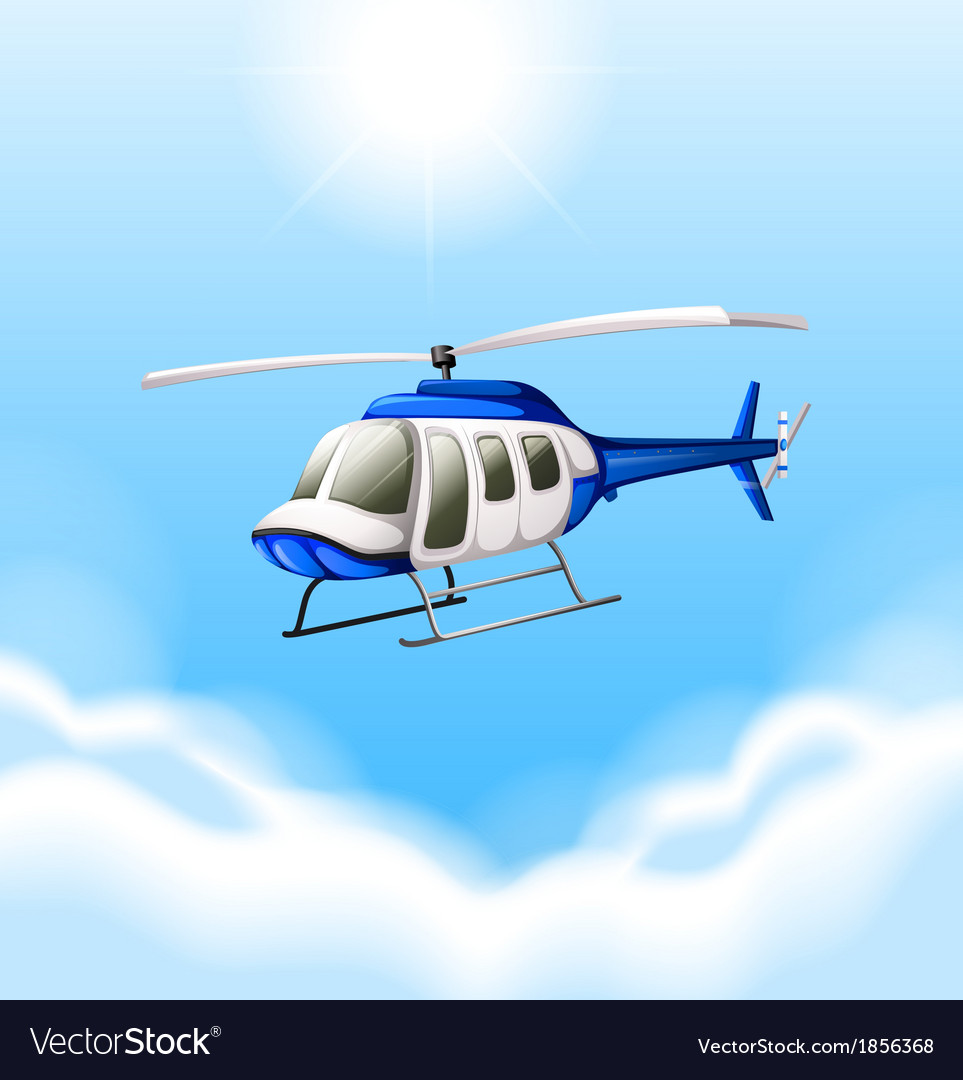 A chopper flying vector | Price: 1 Credit (USD $1)
