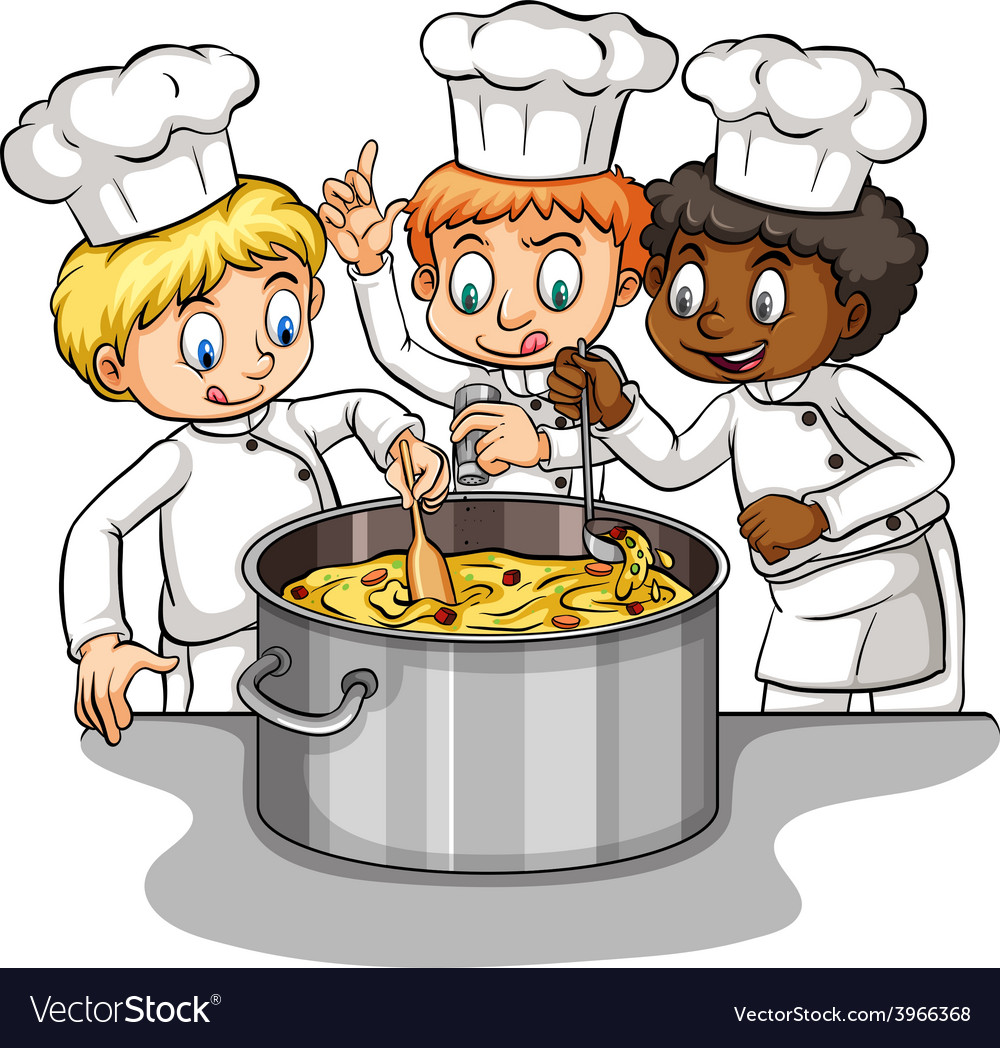 A group of chefs idiom vector | Price: 1 Credit (USD $1)