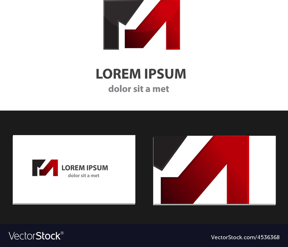 Abstract logo design template with business card vector | Price: 1 Credit (USD $1)