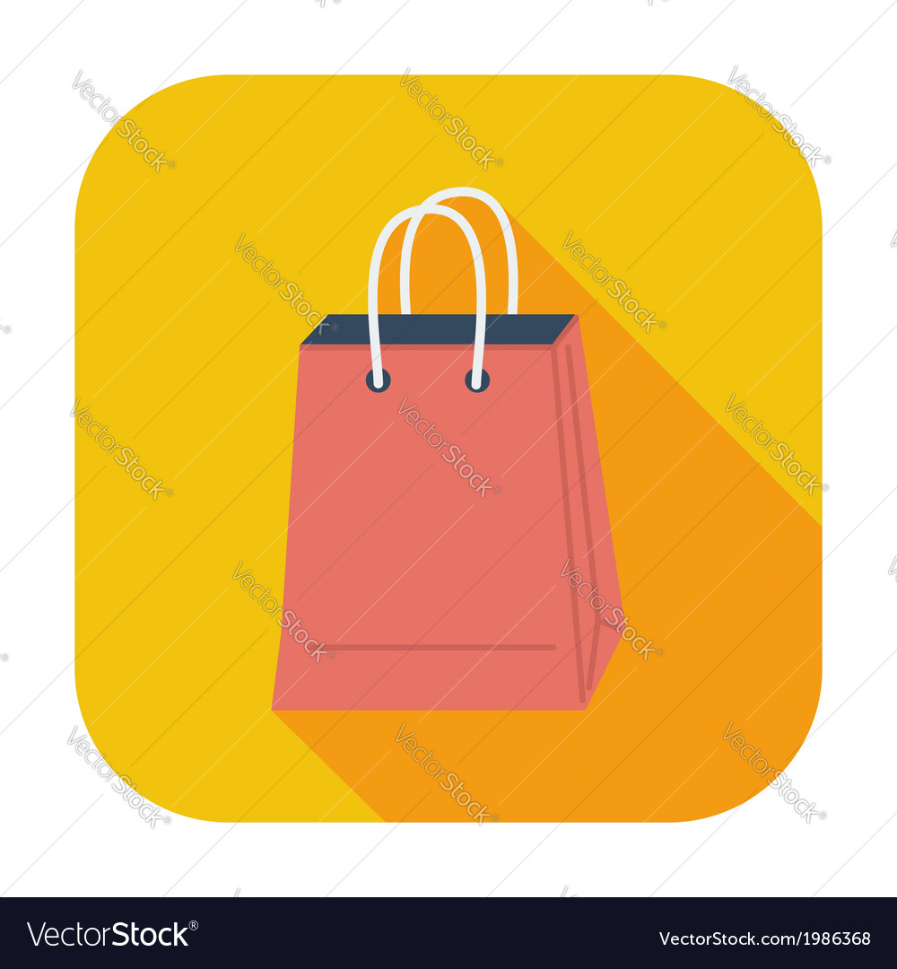 Bag store single icon vector | Price: 1 Credit (USD $1)
