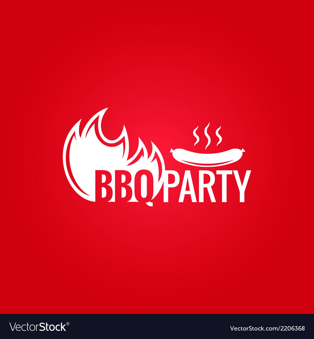 Barbecue fire design background vector | Price: 1 Credit (USD $1)