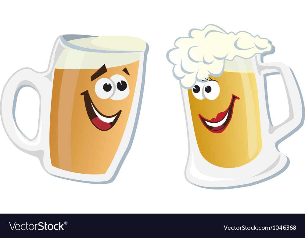 Cartoon smiling hero glass of beer vector | Price: 1 Credit (USD $1)